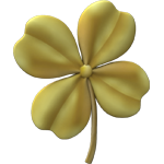 Gold four-leaf clover